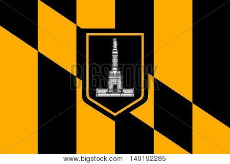 Flag of Baltimore city in Maryland state of United States