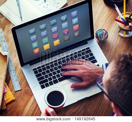 Shortcut Layout Digital Design Program Graphic Concept
