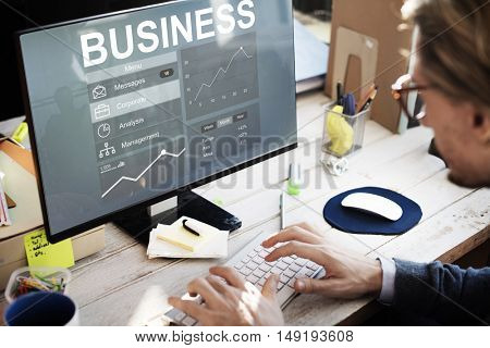 Business Chart Work Analysis Concept