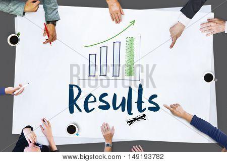 Team Work Calculating Result concept