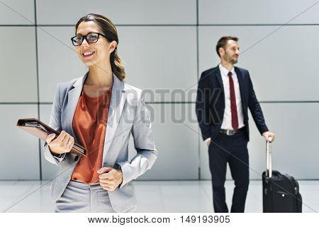 Businessman Businesswoman Professional Suit Concept