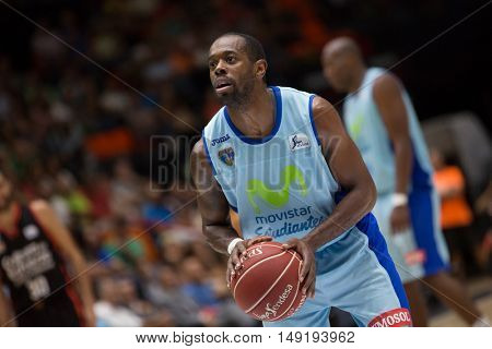 VALENCIA, SPAIN - SEPTEMBER 25th: Wilson during match between Valencia Basket and Estudiantes at Fonteta Stadium on September 25, 2016 in Valencia, Spain