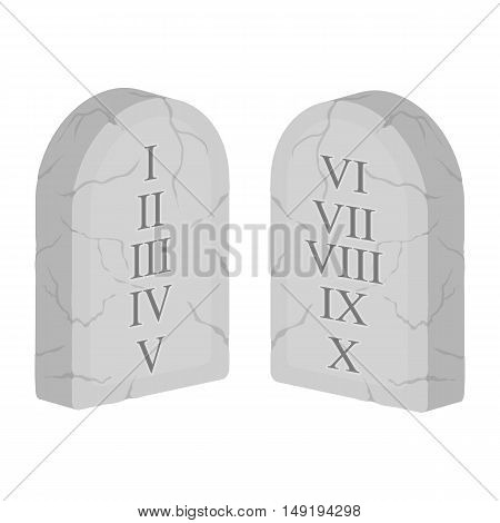 Ten Commandments icon in cartoon style isolated on white background. Religion symbol vector illustration.