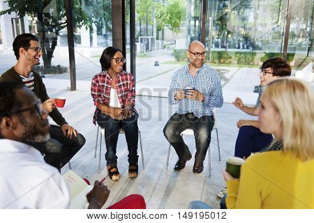 People Meeting Discussion Brainstorming Talking Communication Concept