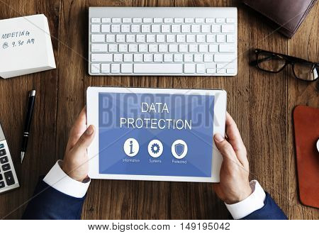 Data Protection Privacy Networking Concept