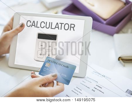 Calculator Accounting Finance Business Concept