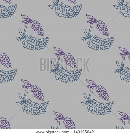 Grape seamless vector illustration shape silhouette spring