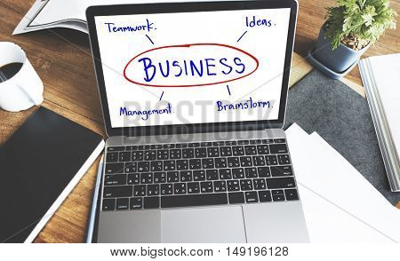 Business Brainstorm Planning Work Ideas Concept