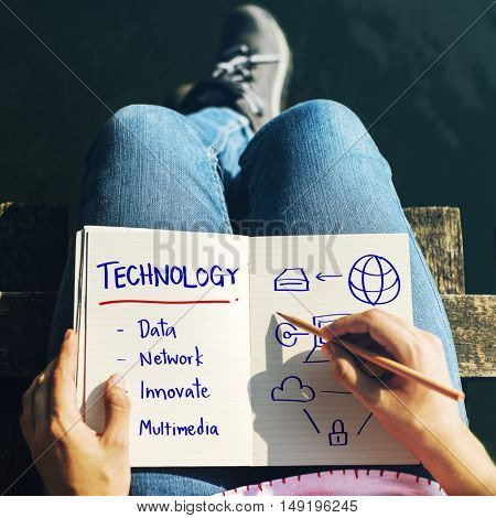 Technology Process Innovate Network Data Concept