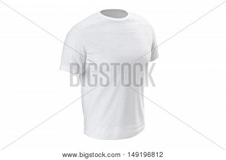T-shirt white stylish fabric outfit short sleeves. 3D graphic