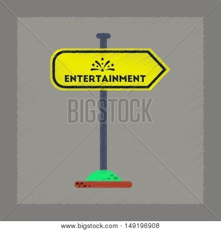 flat shading style icon of sign entertainment