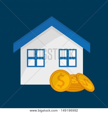 real state related icons image vector illustration