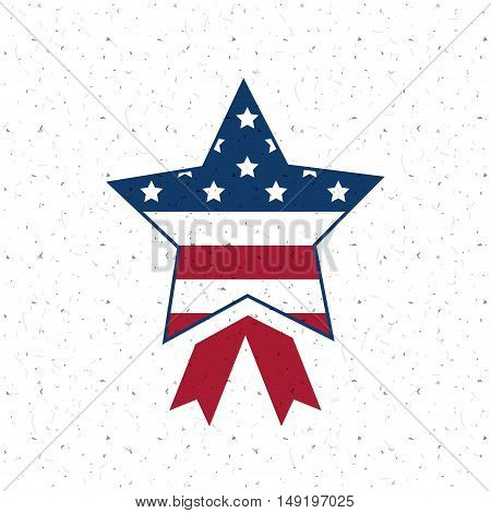 Usa star flag icon. Patriotism nation and government theme. Colorful design. Vector illustration