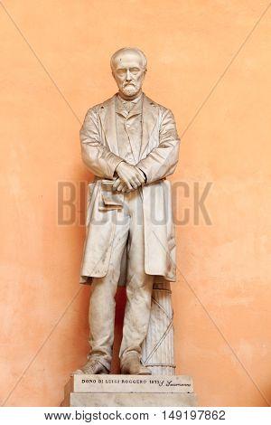 Statue of Luigi Roggero in palace Palazzo Doria Tursi Genoa