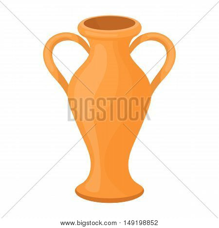Amphora icon in cartoon style isolated on white background. Theater symbol vector illustration