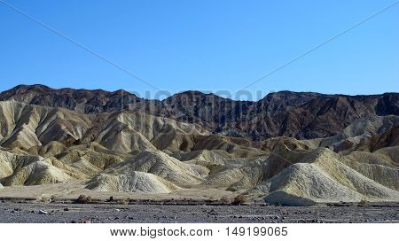 Sand dunes of the National Park Death Valley, located in the Sierra Nevada, California, and Nevada. Light, natural colors.