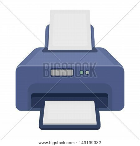 Printer icon in cartoon style isolated on white background. Typography symbol vector illustration.