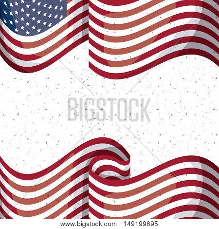 Usa flag icon. Patriotism nation and government theme. Colorful design. Vector illustration