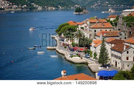 Perast Village of Kotor Bay, Montenegro
