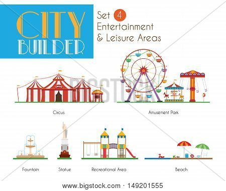 City Builder Set 4: Entertainment and Leisure Areas