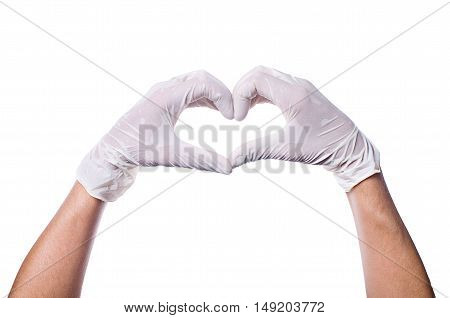 Doctor's Hands Making Heart Shape
