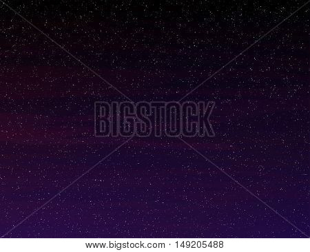 Night sky. Outer space background Vector illustration
