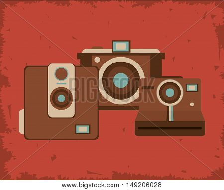 retro photographic camera emblem image vector illustration