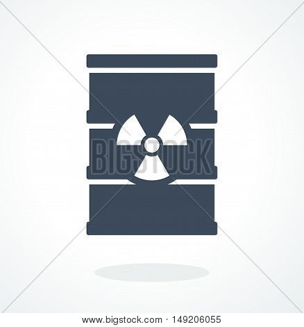 Barrel with toxic waste. Flat cartoon barrel icon. Objects isolated on a white background.