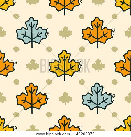 Seamless pattern with Maple Leaves motif can be used in textiles for book design website background