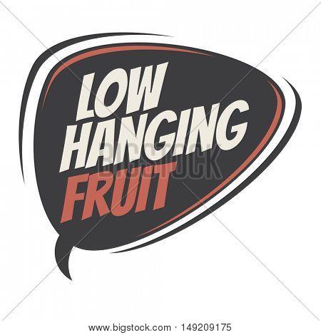 low hanging fruit retro cartoon balloon