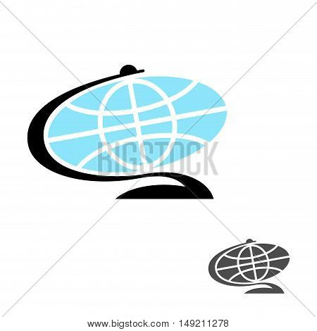 Globe Flat Icon. Earth Ball Character. Planet Earth Sign