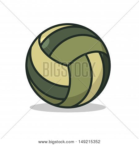 Military Sport Ball. Army Sports Accessory For Games. Camouflage Pill