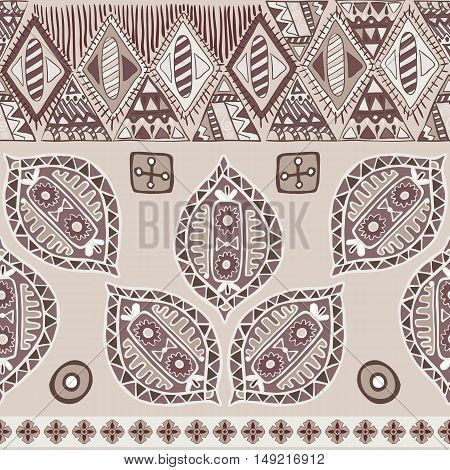 Colorful seamless ethnic pattern. Decorative ornament for fabric, textile, wrapping paper