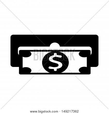dispensing slot money icon vector illustration design