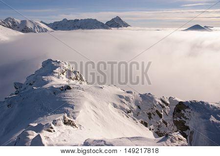 Beautiful winter view of the High Tatras