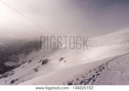Beautiful winter mountain landscape. The Tatra Mountains. Poland