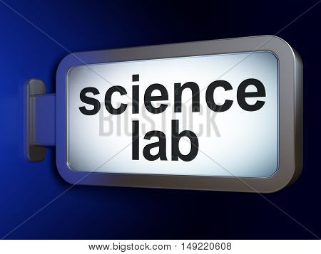 Science concept: Science Lab on advertising billboard background, 3D rendering