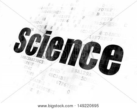 Science concept: Pixelated black text Science on Digital background