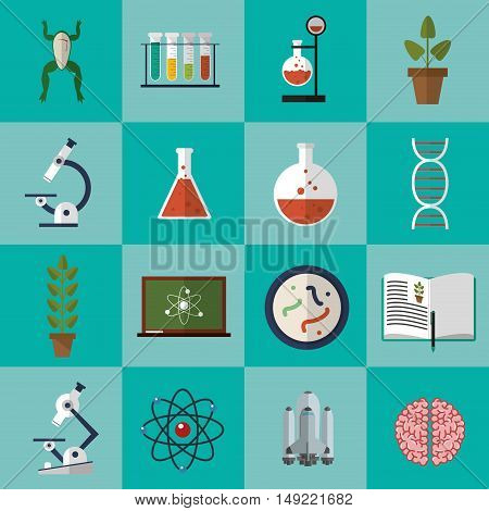flat design assorted science related icons image vector illustration