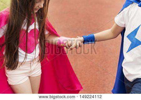 Superhero Boy Girl Brave Imagination Costume Concept