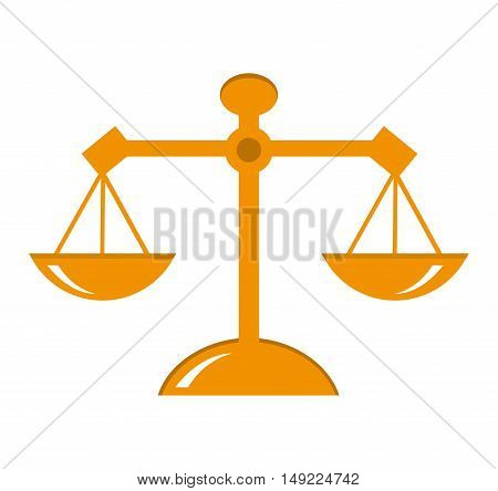 scale balance justice icon vector illustration design
