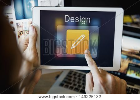 Mobile Application Design Illustrator Creativity Concept