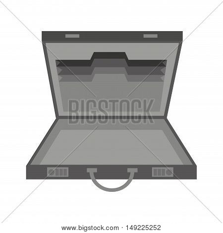 business portfolio open isolated icon vector illustration design