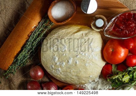 Ingredients For Pizza.