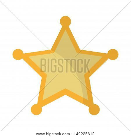 sherif star emblem icon vector illustration design
