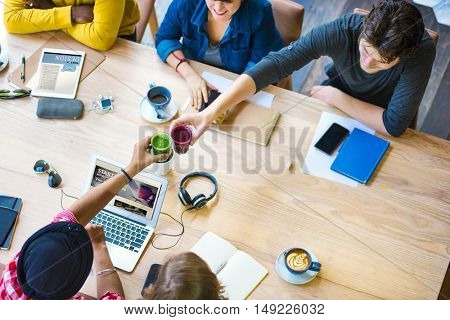 Ideas Creativity Planning Office Working Cafe Concept