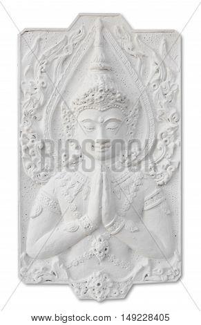 white buddha statue (General art for Thai Temple)