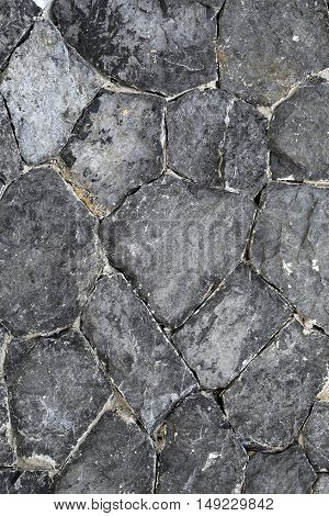 Beautiful texture of the stones on the road