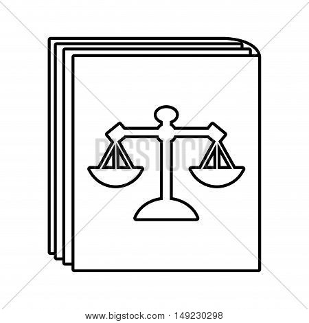 book law justice icon vector illustration design