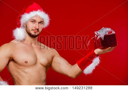 Sexy santa claus has surprise for you.